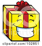 Royalty Free RF Clipart Illustration Of A Smiling Happy Gift