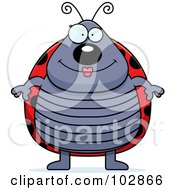 Royalty Free RF Clipart Illustration Of A Chubby Ladybug by Cory Thoman