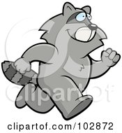 Royalty Free RF Clipart Illustration Of A Raccoon Running by Cory Thoman