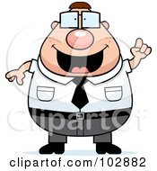 Royalty Free RF Clipart Illustration Of A Chubby Nerdy Businessman by Cory Thoman