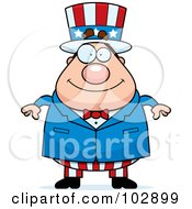 Royalty Free RF Clipart Illustration Of A Chubby Uncle Sam by Cory Thoman