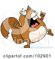 Royalty Free RF Clipart Illustration Of A Happy Dancing Squirrel by Cory Thoman