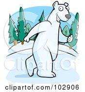 Polar Bear Walking Upright by Cory Thoman