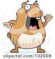 Happy Hamster Waving