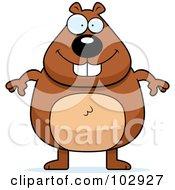 Standing Chubby Beaver