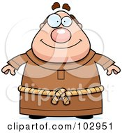 Royalty Free RF Clipart Illustration Of A Chubby Monk by Cory Thoman