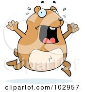 Royalty Free RF Clipart Illustration Of A Stressed Hamster Running by Cory Thoman