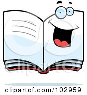 Royalty Free RF Clipart Illustration Of A Happy Smiling Book