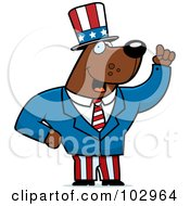 Royalty Free RF Clipart Illustration Of A Patriotic American Bear With An Idea by Cory Thoman