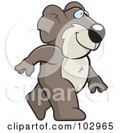 Royalty Free RF Clipart Illustration Of A Happy Koala Walking by Cory Thoman