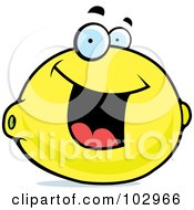 Royalty Free RF Clipart Illustration Of A Happy Smiling Lemon by Cory Thoman
