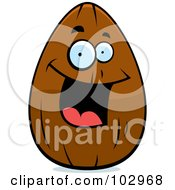 Royalty Free RF Clipart Illustration Of A Happy Smiling Almond