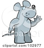 Royalty Free RF Clipart Illustration Of A Friendly Rat Waving