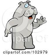 Standing And Waving Bulldog by Cory Thoman