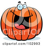 Royalty Free RF Clipart Illustration Of A Happy Pumpkin Character by Cory Thoman
