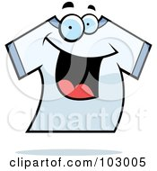 Royalty Free RF Clipart Illustration Of A Happy Smiling T Shirt