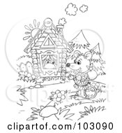 Coloring Page Outline Of A Wandering Mouse By A Frogs House
