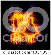 Royalty Free RF Clipart Illustration Of A Blazing Dancer Symbol