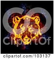 Royalty Free RF Clipart Illustration Of A Blazing Bear Face Symbol