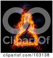 Royalty Free RF Clipart Illustration Of A Blazing Chess Pawn Symbol