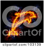 Royalty Free RF Clipart Illustration Of A Blazing Dolphin Symbol