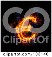 Royalty Free RF Clipart Illustration Of A Blazing Euro Symbol