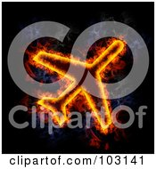 Royalty Free RF Clipart Illustration Of A Blazing Airplane Symbol