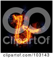 Royalty Free RF Clipart Illustration Of A Blazing Lowercase B Symbol
