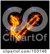 Royalty Free RF Clipart Illustration Of A Blazing Cigarette Symbol