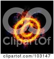 Blazing Copyright Symbol