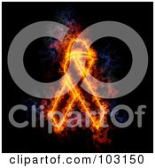 Royalty Free RF Clipart Illustration Of A Blazing Awareness Ribbon Symbol