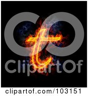 Blazing Lowercase T Symbol