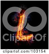 Blazing Capital L Symbol