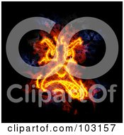 Royalty Free RF Clipart Illustration Of A Blazing Angry Face Symbol