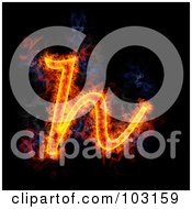 Royalty Free RF Clipart Illustration Of A Blazing Lowercase H Symbol