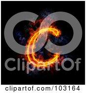 Royalty Free RF Clipart Illustration Of A Blazing Capital C Symbol