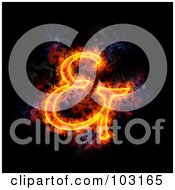 Royalty Free RF Clipart Illustration Of A Blazing Ampersand Symbol 1 by Michael Schmeling