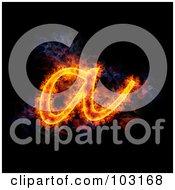 Blazing Lowercase A Symbol