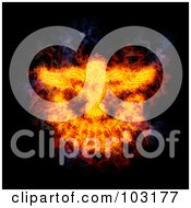 Royalty Free RF Clipart Illustration Of A Blazing Holy Spirit Dove Symbol