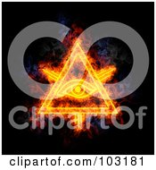 Royalty Free RF Clipart Illustration Of A Blazing Eye Of Providence Symbol by Michael Schmeling #COLLC103181-0128