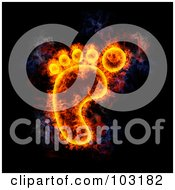Royalty Free RF Clipart Illustration Of A Blazing Footprint Symbol