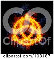 Royalty Free RF Clipart Illustration Of A Blazing Celtic Knot Symbol by Michael Schmeling #COLLC103187-0128