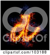 Blazing Lowercase D Symbol