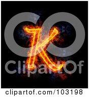 Blazing Capital K Symbol