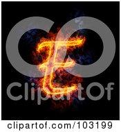 Blazing Capital E Symbol