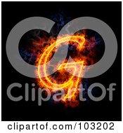 Royalty Free RF Clipart Illustration Of A Blazing Capital G Symbol