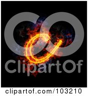 Blazing Lowercase C Symbol