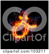 Blazing Symbol Lowercase O