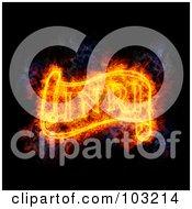 Royalty Free RF Clipart Illustration Of A Blazing Inri Symbol
