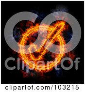 Blazing Check Mark Symbol